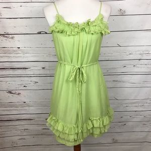 Steve Madden Baby Doll Dress Bright Green XS